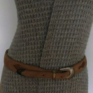 Liz Claiborne Suede and Snakeskin Leather Belt